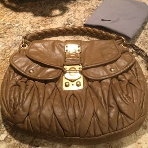 Miu Miu leather purse brown
